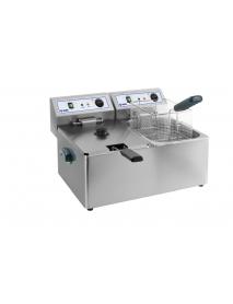 KBS Doppel-Fritteuse Elektro 2x 8 Liter Becken